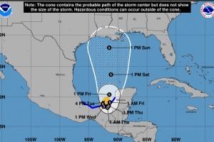 Tormenta Tropical Cristobal a nace den Golfo di Mexico