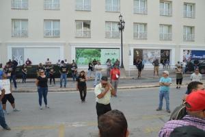 Docentenan a manifesta y exigi retiro di minister Rudy Lampe