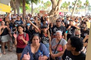 Manifestantenan na gobierno: 'Nos no ta pidi, nos ta exigi!'