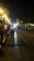 Polis a detene 9 persona despues di un di e manifestacionan diabierna anochi
