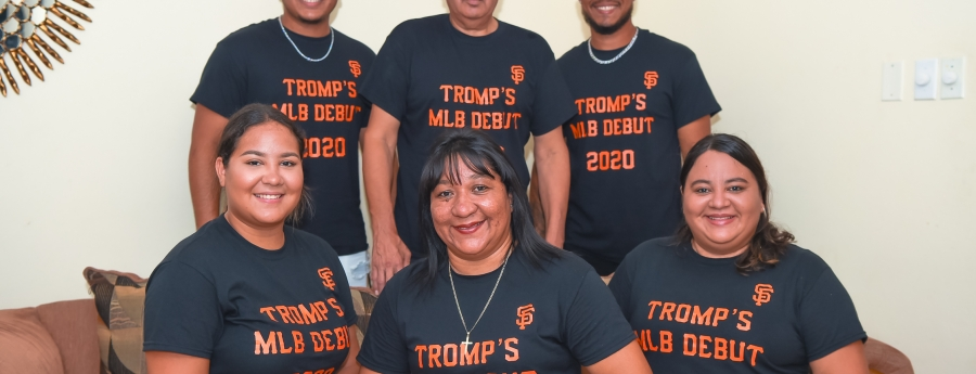Famia Tromp a celebra e entrada di Chadwick den Mayor League Baseball