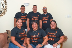 Famia Tromp a celebra e entrada di Chadwick den Mayor League Baseball