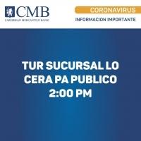 CMB ta anuncio orario nobo di ciere pa motibo di COVID-19