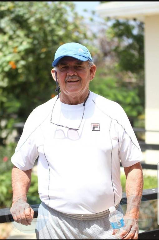 Legendario tenista Eddy Ras a bay sosega