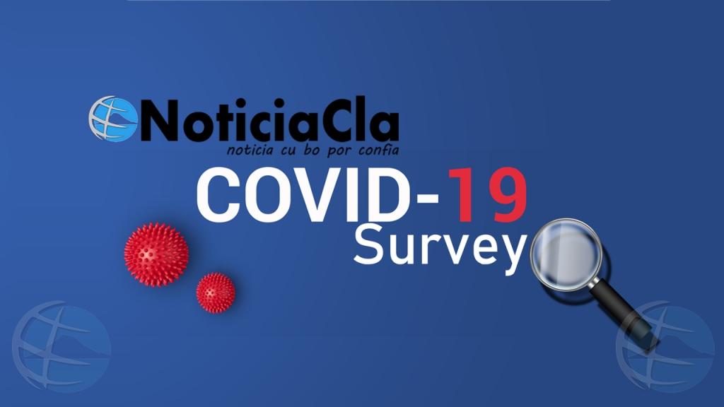 Encuesta di noticiacla riba Aruba su experiencia cu COVID19