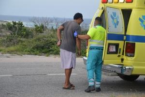 Accidente na entrada di Colony a laga dos auto total loss