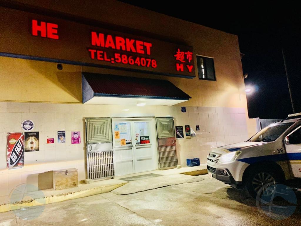 Atraco riba He's Supermarket na Monserat