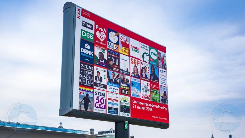 Na Hulanda a registra cantidad record di partidonan politico