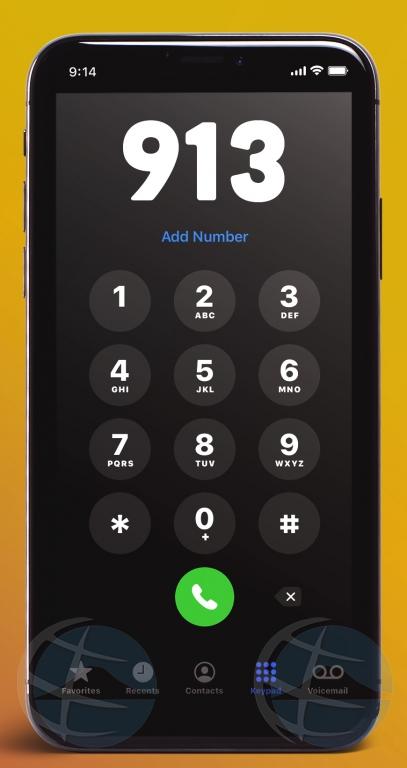 Ta introduci 913 como number gratuito di urgencia pa emergencia riba lama