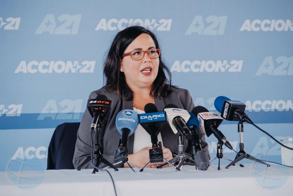 Parlamentario Daphne Lejuez ta forma parti di partido Accion21