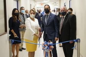 A inaugura e servicio na IMSAN di hospital temporal