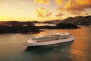 Mas bapor crucero na caminda pa Aruba, usando Caribe como base