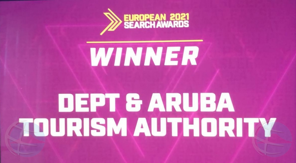 Aruba a gana premio mayor den 'European Search Awards 2021'