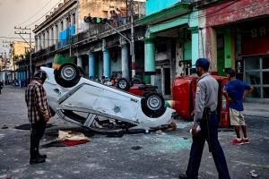 Presidente Cubano ta culpa influencia Mericano pa protestanan