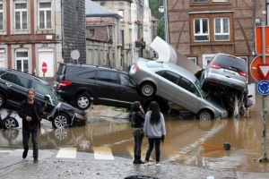 Mal tempo a causa varios morto na Alemania y Belgica