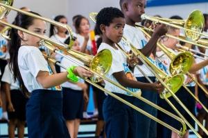 Concierto di Leerorkest Aruba a bira realidad