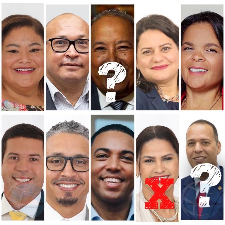 Lista final di Parlamentarionan di MEP ta cla, sin Thijsen y sin Ras