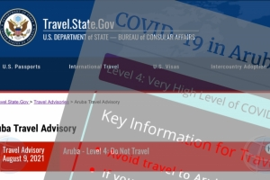 Aruba ta keto bay riba lista mas halto di CDC di alerta contra biahamento