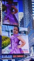 Cuater modelo special di Aruba tabata riba billboard na Times Square na New York!