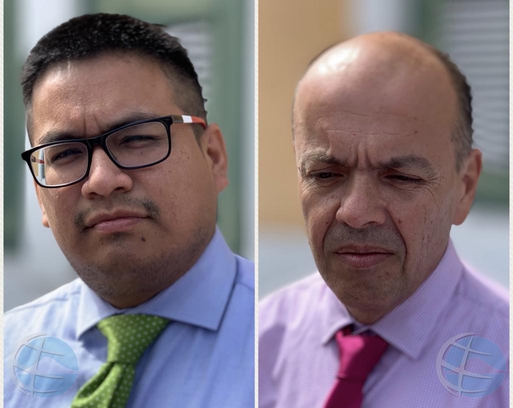 Periodistanan Andrade y Espinoza a contradeci otro den corte den caso Kinikini