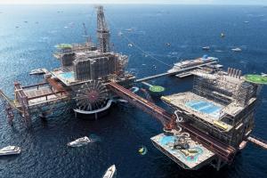 Saudi Arabia ta converti plataforma petrolero den atraccion turistico